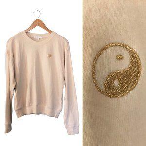 Super Soft Ivory Crewneck Yin Yang Sweatshirt NWT